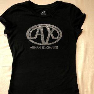 Medium Black Armani Exchange T-shirt